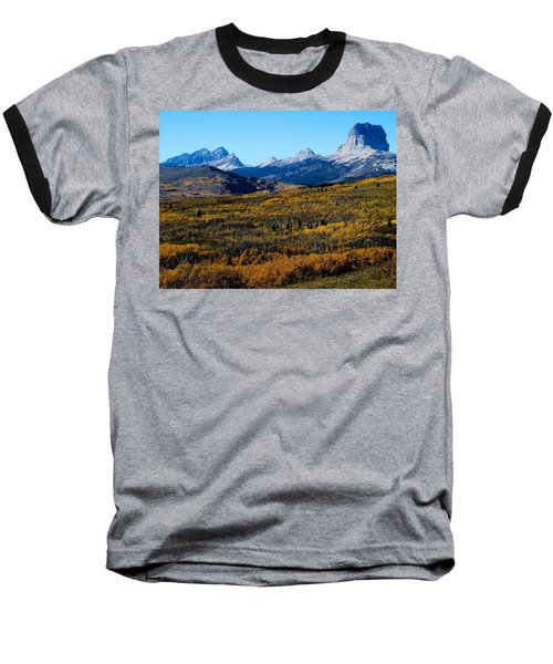 Chief Mountain In The Fall Baseball T-Shirt