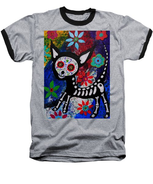 Chihuahua Day Of The Dead Baseball T-Shirt