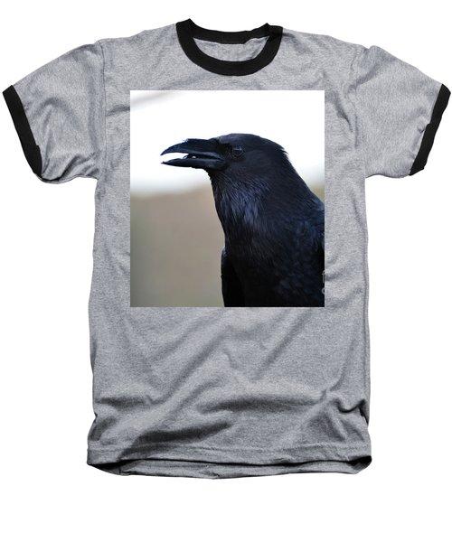 Chihuahua Raven Profile Baseball T-Shirt
