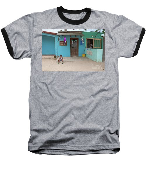 Child And House Baseball T-Shirt