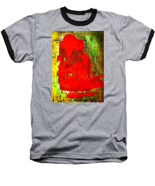 Colorful Red Abstract Painting - Child In Time Baseball T-Shirt
