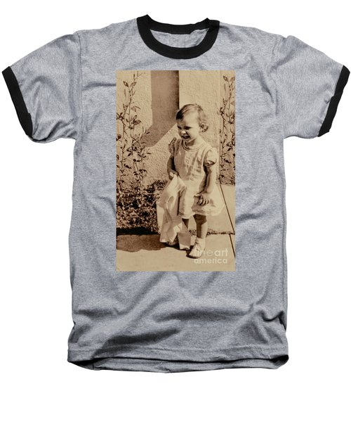 Baseball T-Shirt featuring the photograph Child Of 1940s by Linda Phelps