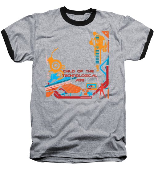 Child Of The Technological Age Baseball T-Shirt by Paulette B Wright