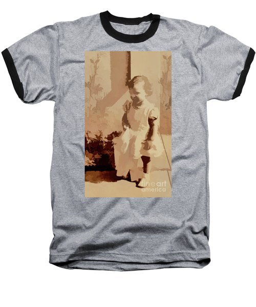 Baseball T-Shirt featuring the photograph Child Of World War 2 by Linda Phelps