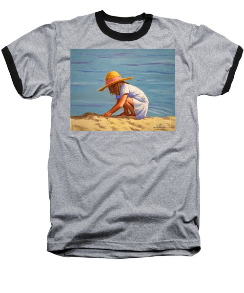 Child Playing In The Sand Baseball T-Shirt