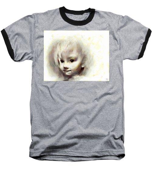 Child Portrait Baseball T-Shirt by Gun Legler