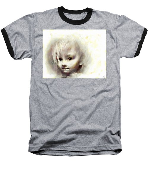 Child Portrait Baseball T-Shirt