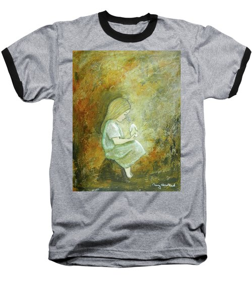 Childhood Wishes Baseball T-Shirt by Terry Honstead