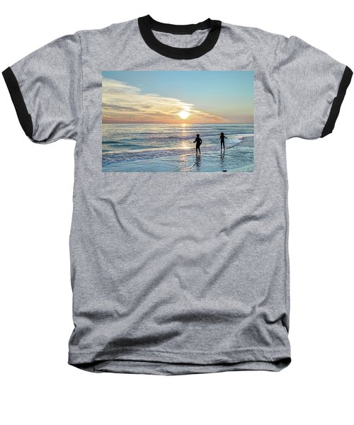 Children At Play On A Florida Beach  Baseball T-Shirt