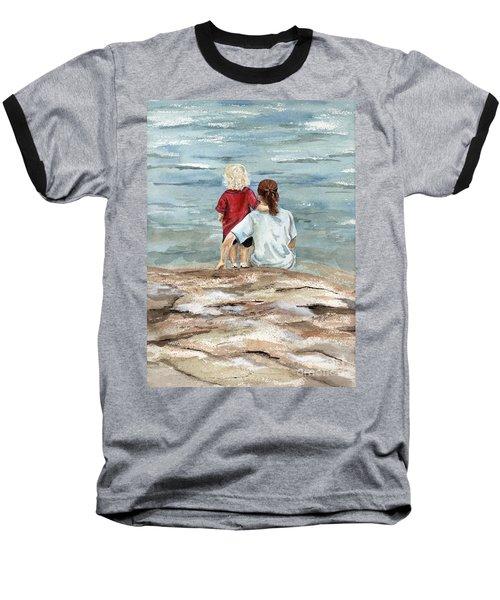 Children By The Sea  Baseball T-Shirt