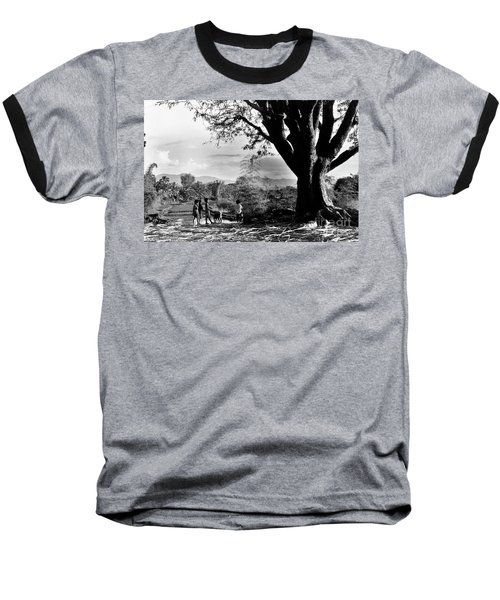 Children Of Central Highland Are Playing With A Dog Baseball T-Shirt