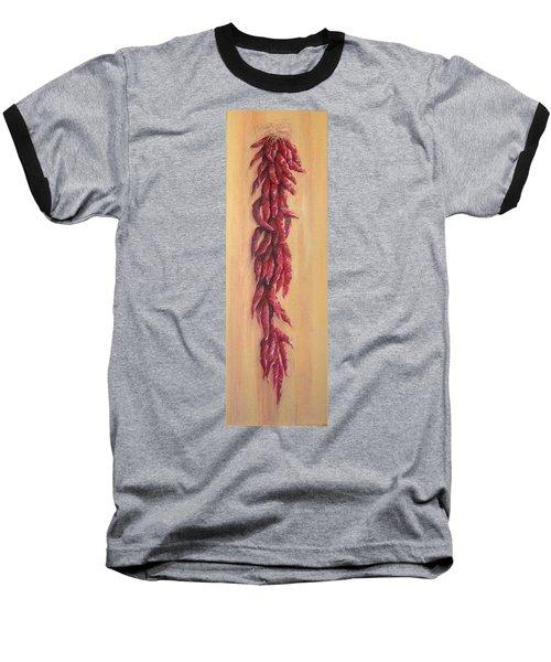 Chile Ristra Baseball T-Shirt by Irene Corey