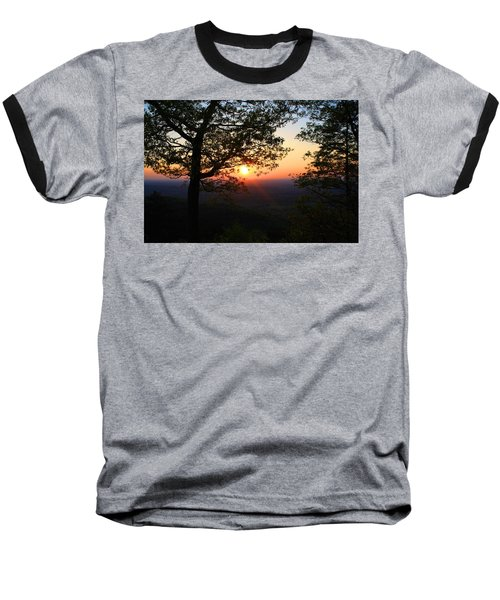 Baseball T-Shirt featuring the photograph Chilhowee Sunset by Kathryn Meyer