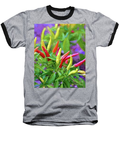 Baseball T-Shirt featuring the photograph Chili Pepper Art by Kerri Farley