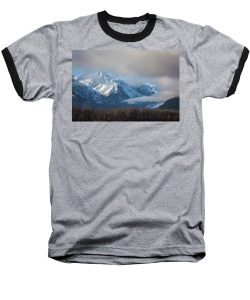 Chilkat Mountains With Clearing Fog Baseball T-Shirt
