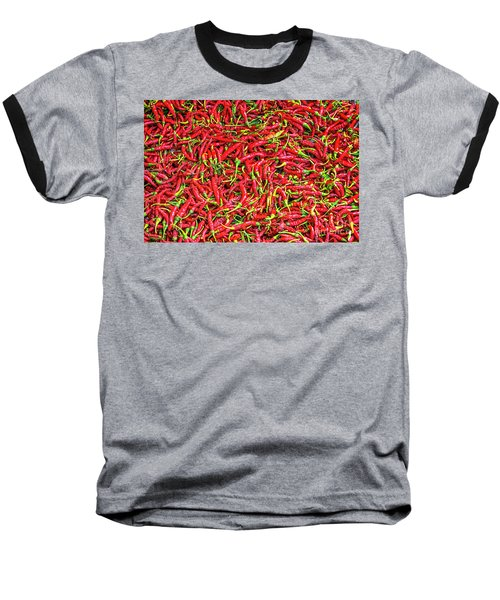 Baseball T-Shirt featuring the photograph Chillies by Charuhas Images