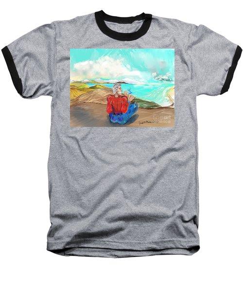 Chillin' Caricature Joe Baseball T-Shirt