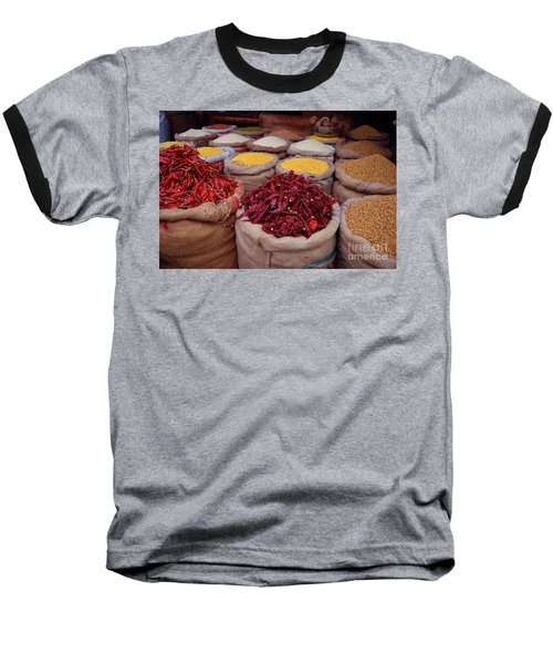 Chilliy Peppers Baseball T-Shirt by Mini Arora