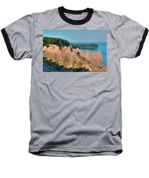 Chimney Bluffs 1750 Baseball T-Shirt
