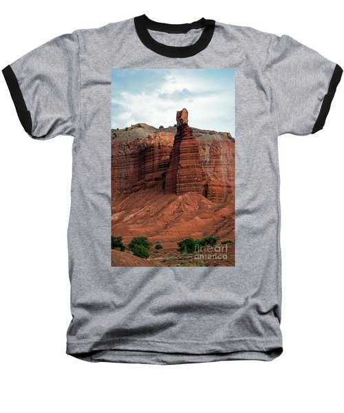 Chimney Rock In Capital Reef Baseball T-Shirt