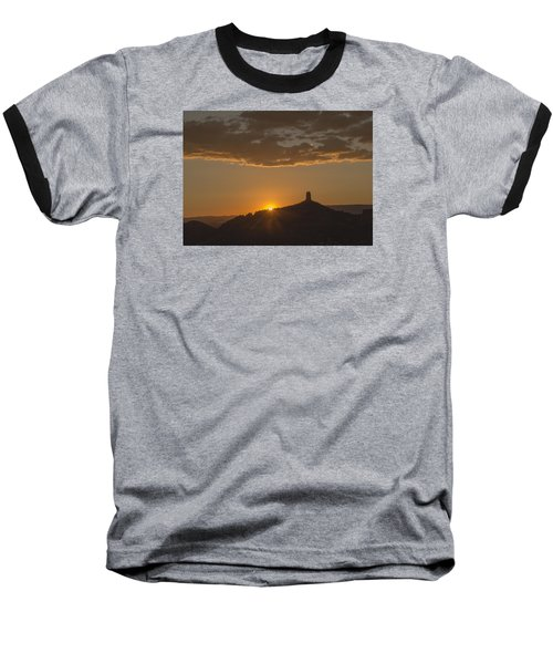 Chimney Rock Sunset Baseball T-Shirt