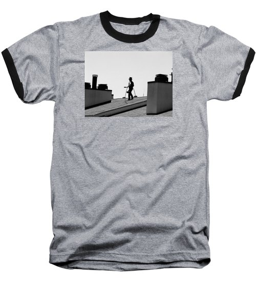 Baseball T-Shirt featuring the photograph Chimney Sweep by Helen Haw