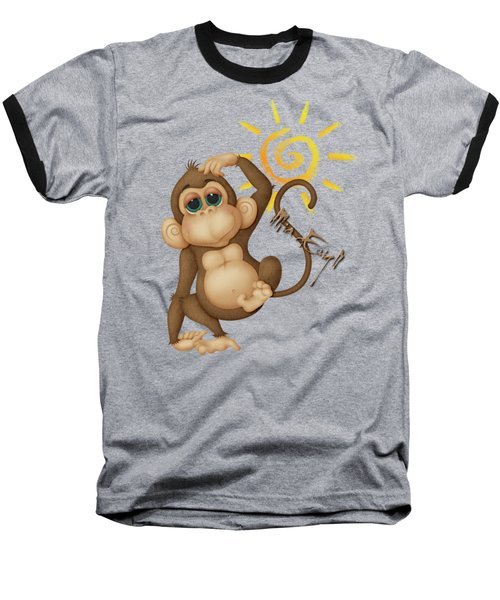 Chimpanzees, Mother And Baby Baseball T-Shirt by iMia dEsigN