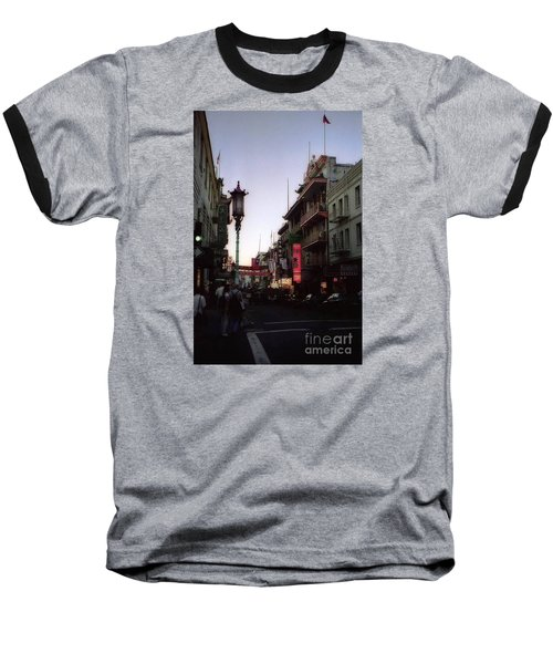 China Town San Francisco  Baseball T-Shirt by Ted Pollard