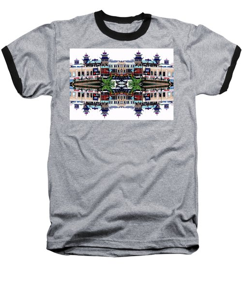 Chinatown Chicago 2 Baseball T-Shirt by Marianne Dow