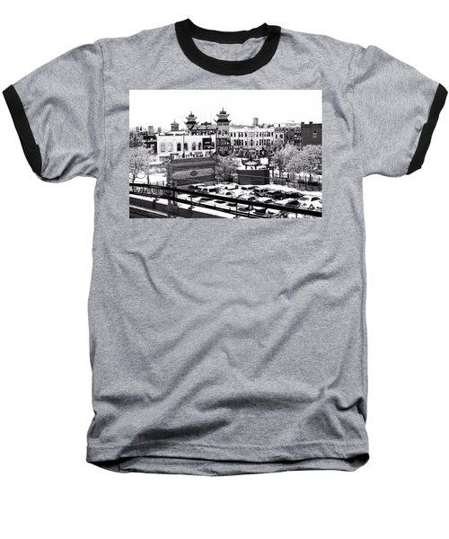 Chinatown Chicago 4 Baseball T-Shirt by Marianne Dow