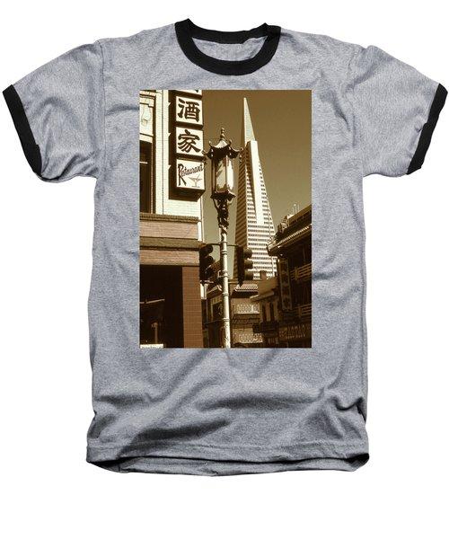 Chinatown San Francisco - Vintage Photo Art Baseball T-Shirt