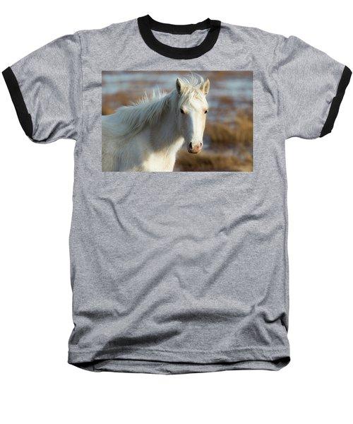 Chincoteague White Pony Baseball T-Shirt