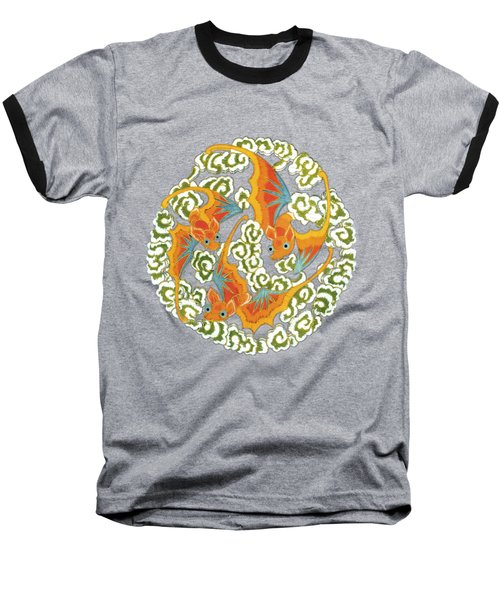 Chinese Bats Tee Shirt Design Baseball T-Shirt
