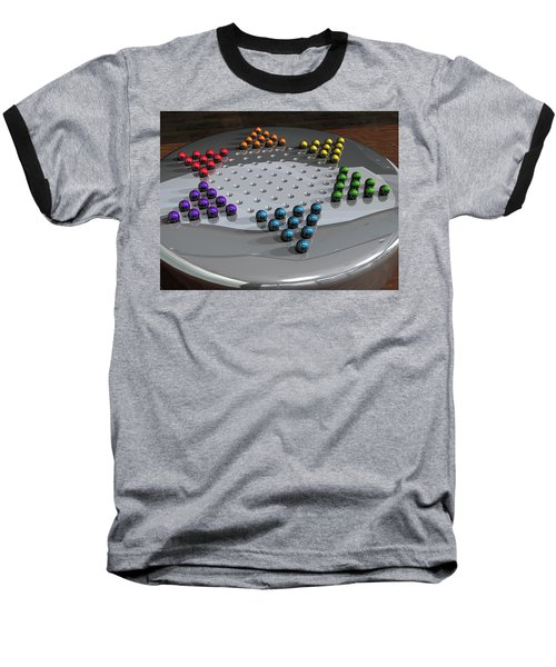 Chinese Checkers Baseball T-Shirt