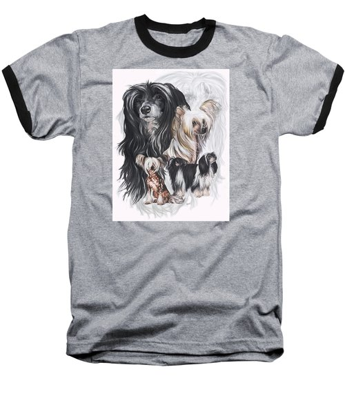 Chinese Crested And Powderpuff W/ghost Baseball T-Shirt