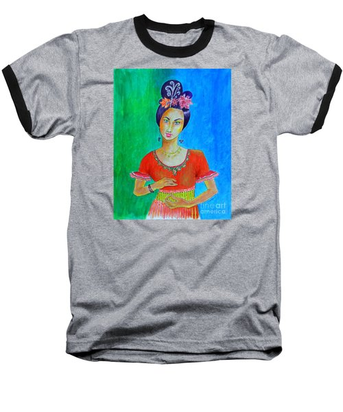 Chinese Dancer -- The Original -- Portrait Of Asian Woman Baseball T-Shirt