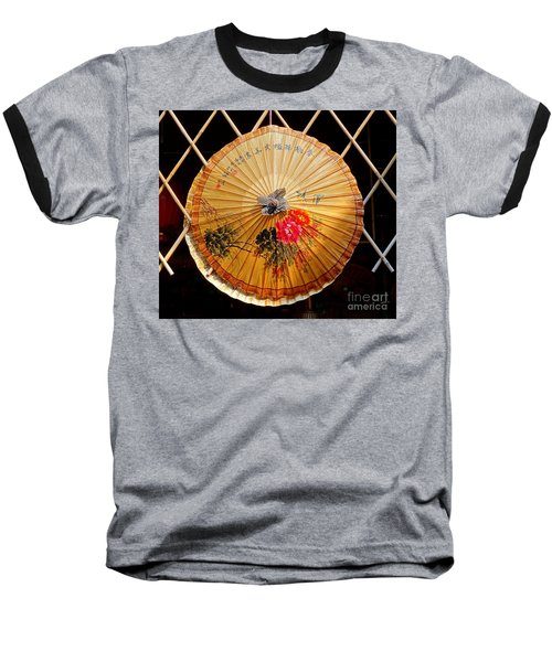 Baseball T-Shirt featuring the photograph Chinese Hand-painted Oil-paper Umbrella by Yali Shi
