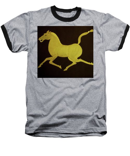 Chinese Horse Baseball T-Shirt by Stephanie Moore