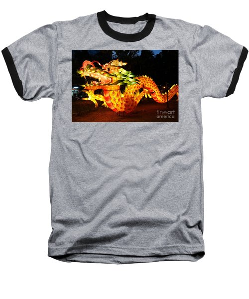 Chinese Lantern In The Shape Of A Dragon Baseball T-Shirt by Yali Shi