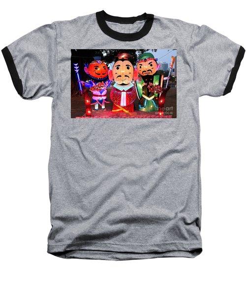 Chinese Lanterns In The Shape Of Three Wise Men Baseball T-Shirt by Yali Shi