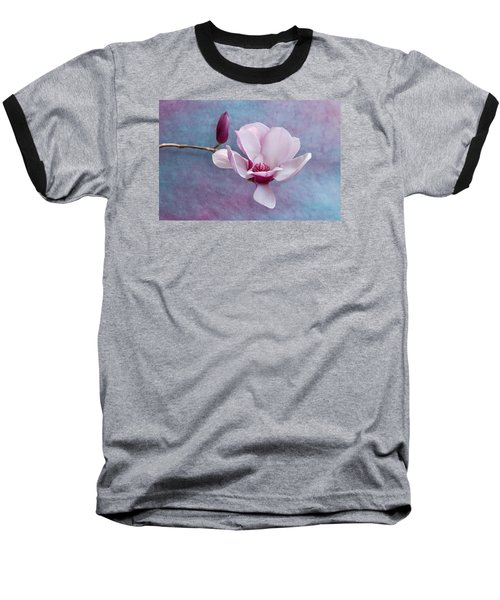Chinese Magnolia Flower With Bud Baseball T-Shirt
