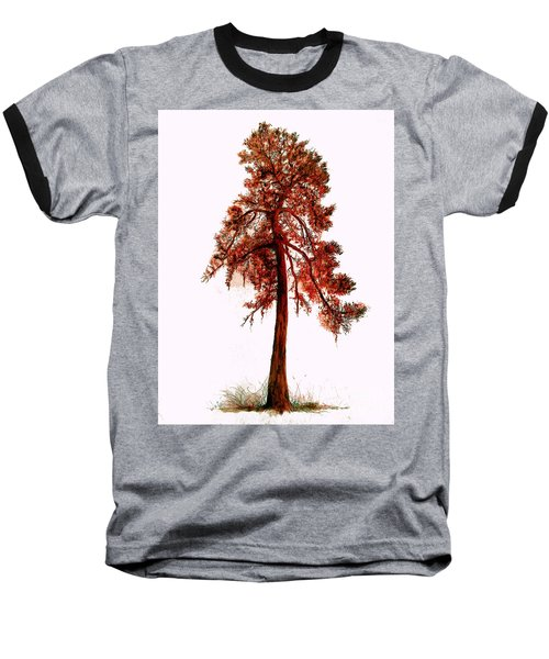 Chinese Pine Tree Drawing Baseball T-Shirt