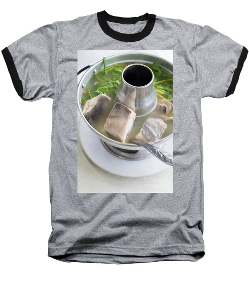 Baseball T-Shirt featuring the photograph Chinese Silver Pomfret Soup by Atiketta Sangasaeng