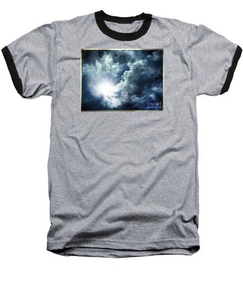 Baseball T-Shirt featuring the photograph Chink Of Light - Spiraglio Di Luce by Zedi