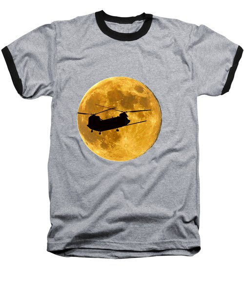 Chinook Moon Color .png Baseball T-Shirt by Al Powell Photography USA