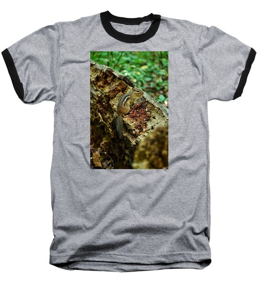 Baseball T-Shirt featuring the photograph Chipmunk by Nikki McInnes