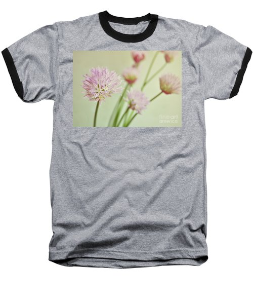 Baseball T-Shirt featuring the photograph Chives In Flower by Lyn Randle