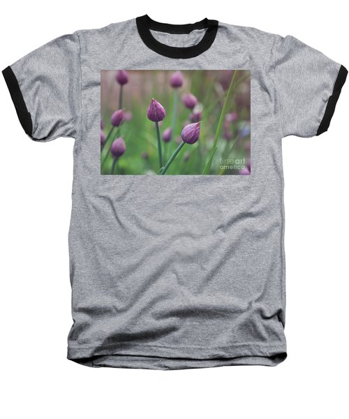 Baseball T-Shirt featuring the photograph Chives by Lyn Randle
