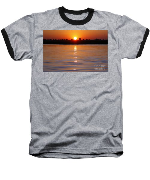 Chobe River Sunset Baseball T-Shirt by Myrna Bradshaw