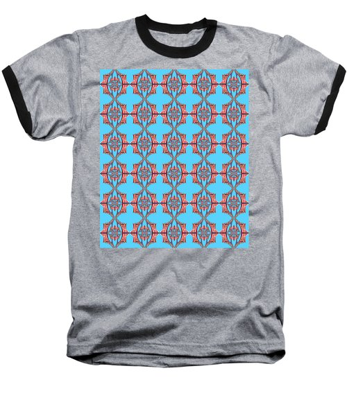 Chock A Block Light Turquoise Baseball T-Shirt
